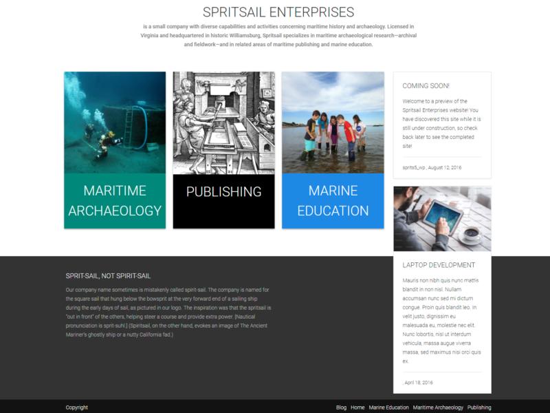 Website: Spritsail Enterprises