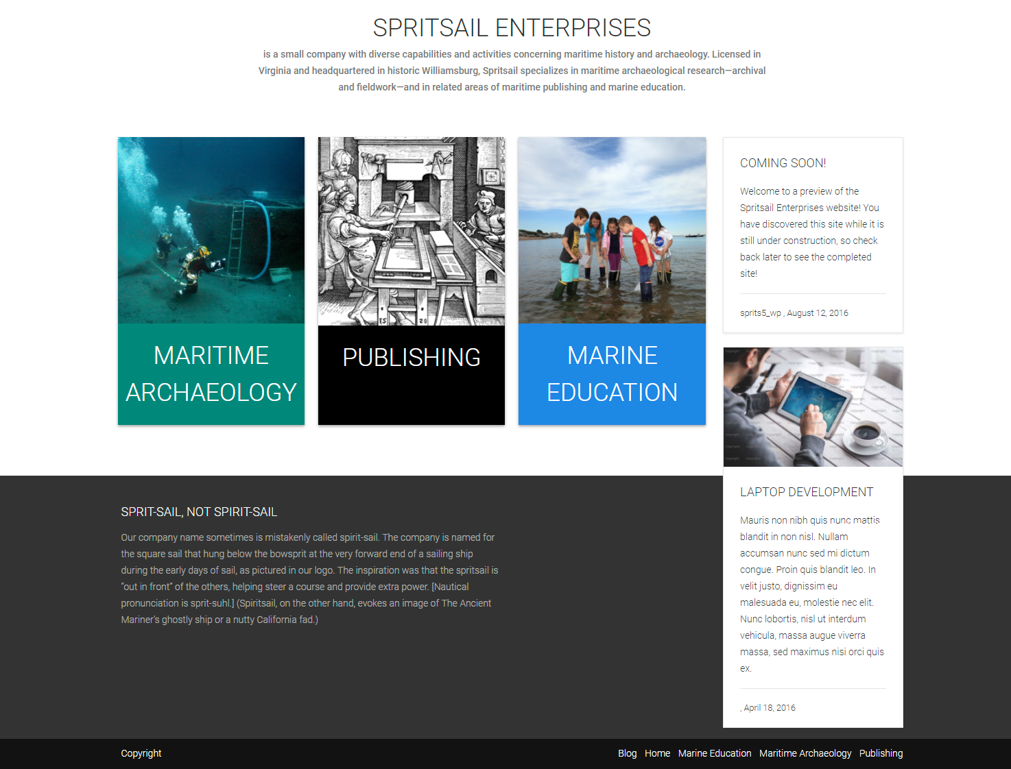 Website: Spritsail Enterprises
